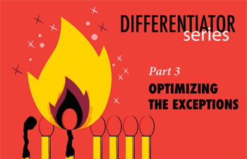 Differentiator Series, Part 3: Optimizing the Exceptions