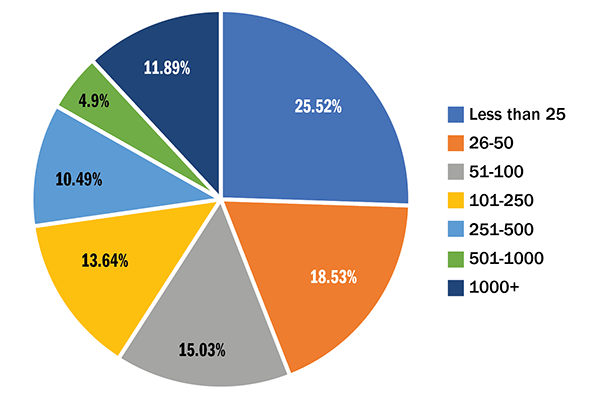 Figure 4 Survey Participant Size Distribution